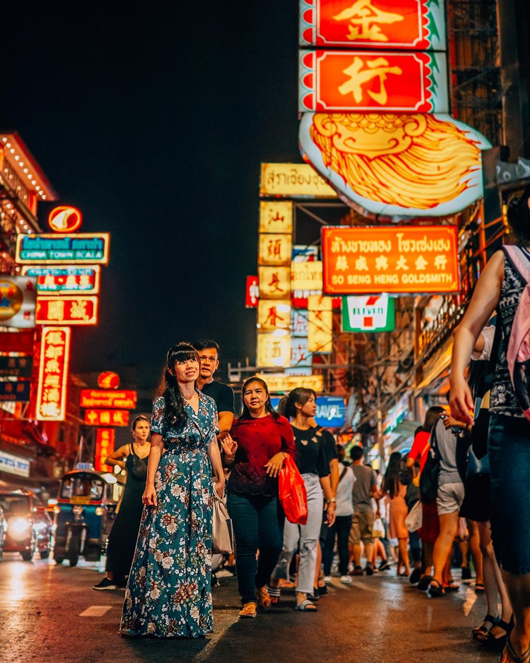 Chinatown Night Food Street in Bangkok